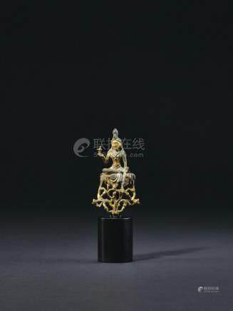 唐 铜鎏金菩萨像