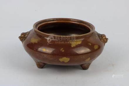 Chinese Glazed Porcelain Incense Burner