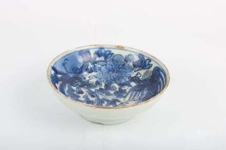 Chinese Blue And White Phoenix Pattern Bowl