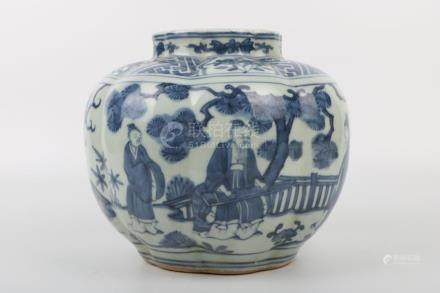 Chinese Ming Dynasty Wanli Period Blue And White Jar