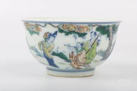 Chinese Qing Dynasty Yongzheng Period Doucai Porcelain Bowl