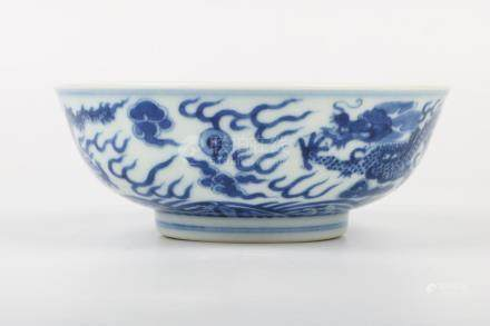 Chinese Qing Dynasty Yongzheng Period Blue And White Bowl