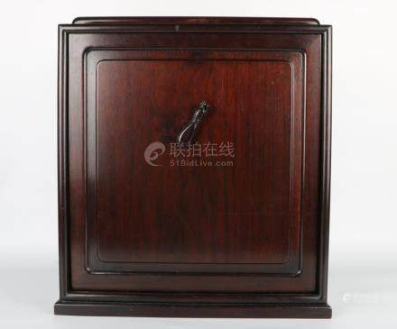 Chinese Late Qing Dynasty Redwood Book Boxe