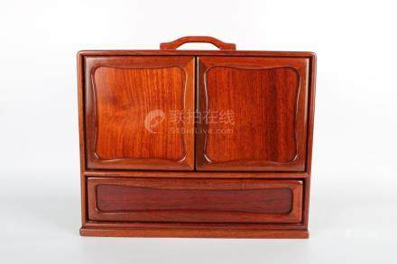 Chinese Republic Of China Period Redwood Book Box