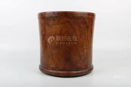 Chinese Qing Dynasty Huang Hua Li Wood Brush Pot