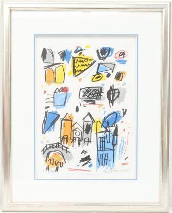 Gast MICHELS (1954–2013)  Sérigraphie polychrome.…