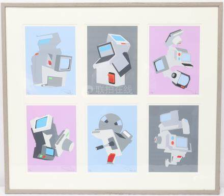 Paul KIRPS (né en 1969)  Ensemble de 6 sérigraphies…