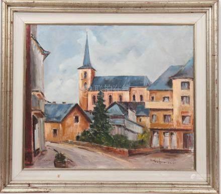 Schumacher  Artiste luxembourgeois  Huile…