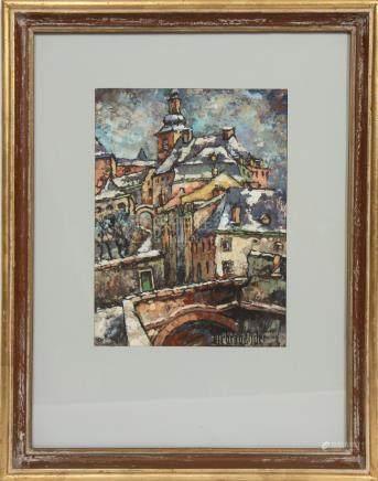 Léon Debrabander (1896-?)  Huile sur carton…