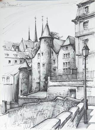 "Dessin ""maison de Cassal"" de Pierre Droessaert…"