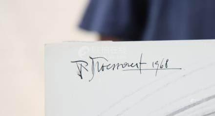 Dessin de Pierre Droessaert (1923-1997)  Dessin…