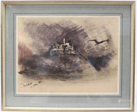 Souvenir de Bourscheid  Sérigraphie Eau-forte…