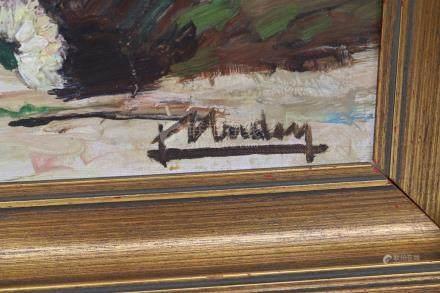 Lily Unden (1908-1989)  Huile sur toile contrecolé…