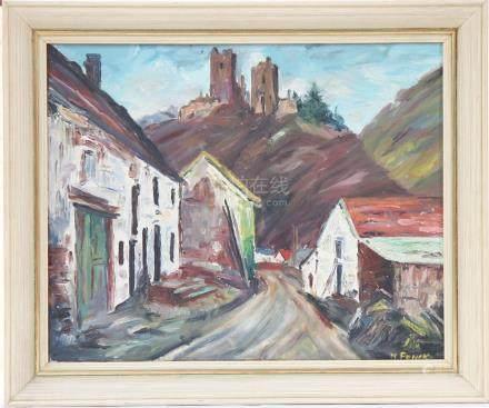 "Tableau ""Branebuerg"" de Fonck  Peintre luxembourgeois…"