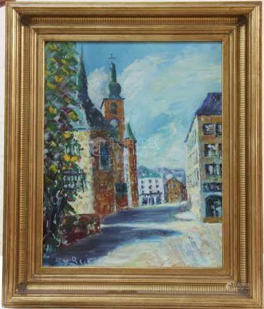"""Tableau """"vieille ville"""" de Aly Beck  Peintre…"""