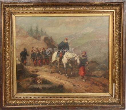 Retour de combat de Emile Prangey (1832-?)…