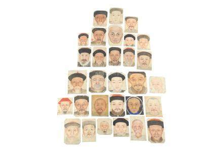 COLLECTION OF CHINESE PAINTED PORTRAITS