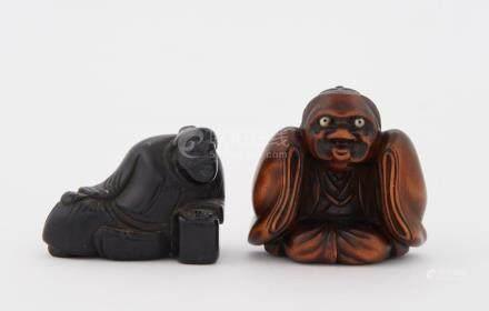Two Japanese Boxwood Netsuke