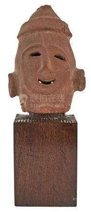 Japanese Jomon Style Pottery Head