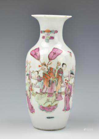 Chinese Famille Rose Vase, 19th C.
