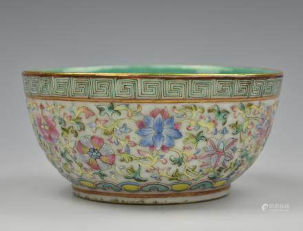 Chinese Famille Rose Bowl, Daoguang Period