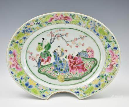 Chinese Famille Rose Shave Plate,Yongzheng Period