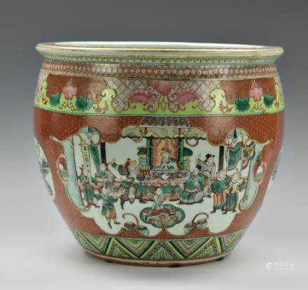 Large Chinese Famille Rose Goldfish Bowl,19th C.