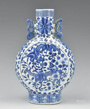 Chinese Blue & White Dragon Vase,GuangXu Period