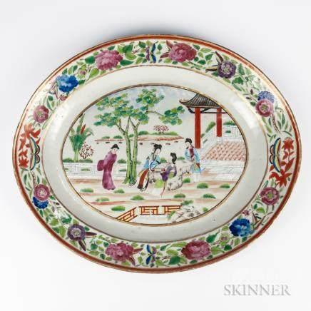 Export Rose Mandarin Platter