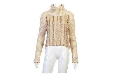 Chanel Embellished Cashmere Roll Neck Jumper