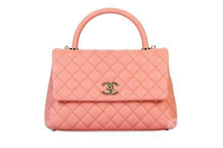 Chanel Coral Pink Coco Handle Bag