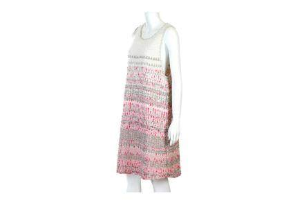 Chanel Pink and White A-Line Dress