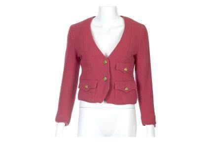 Chanel Pink Boucle Cropped Jacket