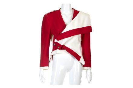 Alexander McQueen Red and Cream Jacket