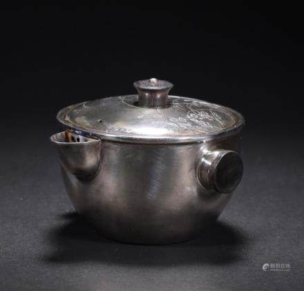 CHINESE SILVER TEA POT
