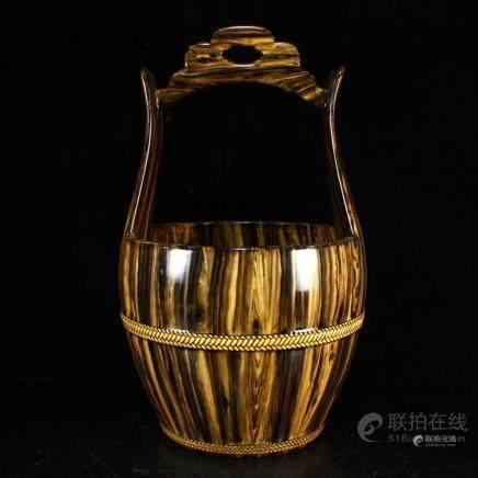 Chinese Twistable Glaze Porcelain Water Breaker w Qianlong M