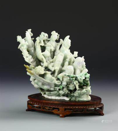 Chinese Jadeite Eight Mortals Ornament