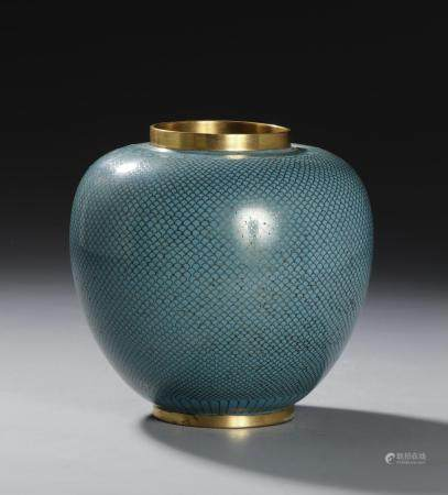 Chinese Enameled Bronze Ginger Jar