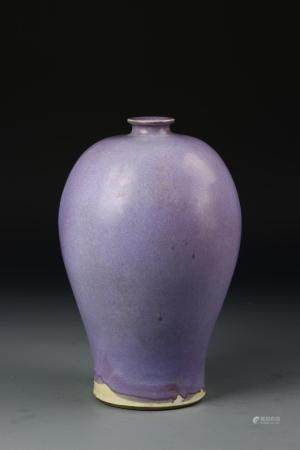 Chinese Jun Type Meiping Vase