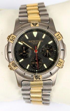 Reloj cronómetro de pulsera, de la marca SEATTLE TITANIO.