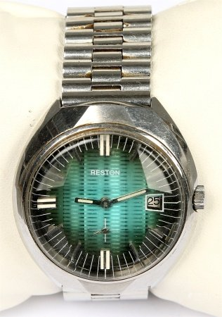 Reloj vintage de pulsera, de la marca RESTON.