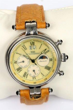 Reloj cronómetro de pulsera, de la marca WM.