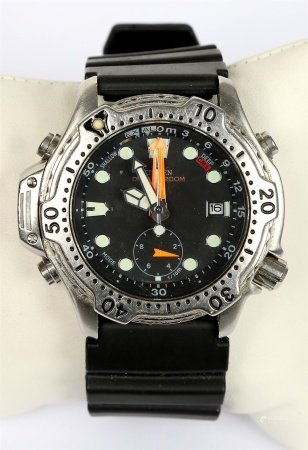 Reloj cronómetro vintage de pulsera, de la marca CITIZEN.