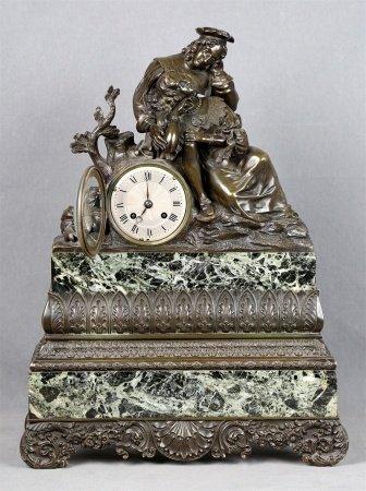 Reloj de sobremesa, finales S.XVIII.