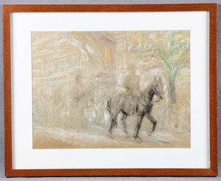"""SEGURA MONFORTE, RAFAEL. """"Paseo a caballo""""."""