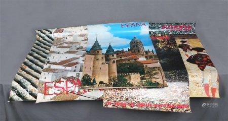 Lote de 5 carteles de Turismo de España, años 70.