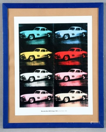 "WARHOL, ANDY. ""Mercedes Benz 300 SL Coupé""."