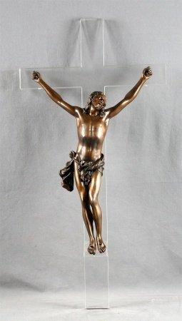 """ANÓNIMO. """"Cristo en la cruz""""."""