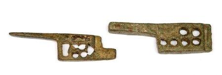 Lote de 2 bocallaves romanas, S.II d.C.