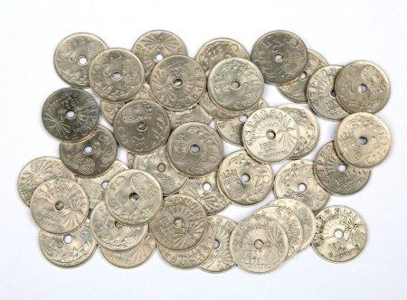 Lote de 60 monedas de 25 céntimos, año 1937.